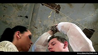 greg stripped bound tapegagged of mia and wanked