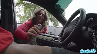 Camsoda - Dick Flash Teen Gives Me Hand Job in Public Lot after She Sees My BBC