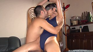 Oiled up blindfolded Japanese slave girl Nanase Kokoro abused by cock